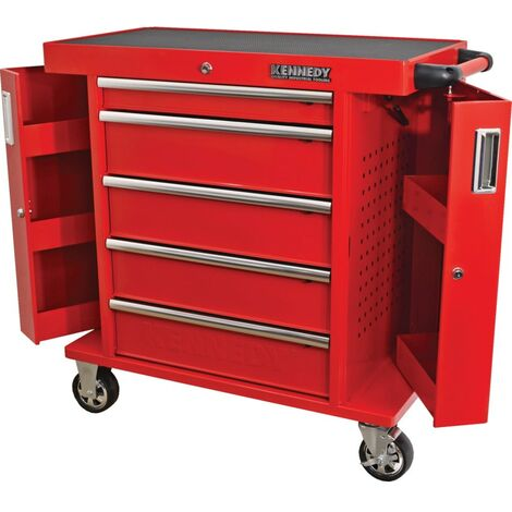 "Kennedy RED-36"" 5 Drawer Roller Cabinet"