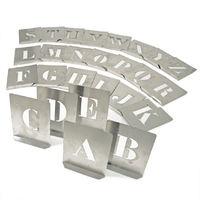 Kennedy Schablonen Buchstabenschablonen Set 26-teilig aus Stahl 140x115 mm Zeichenhöhe: 100 mm wasserdicht