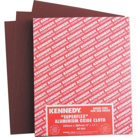 Kennedy Schleifpapier mit Gewebeträger 230 x 280mm Korund Körnung 100