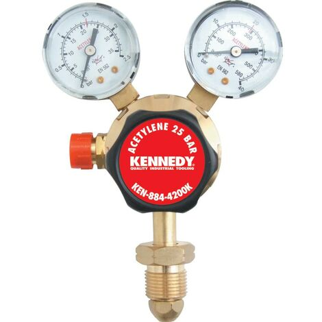 Kennedy Ssa Acetylene Regulator S GL Stage 25 Bar :0-1.5BAR