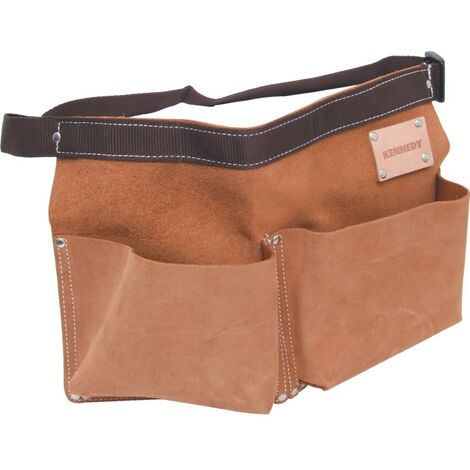 Kennedy Suede Leather 2-POCKET 1- Loop Nail Pouch