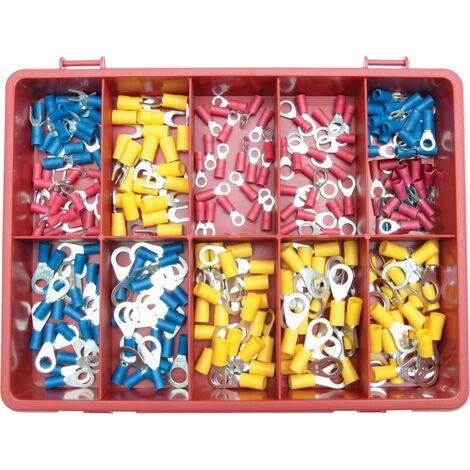 Kennedy Terminals/rings/forks Red /blue/yellow Kit 240-PCE
