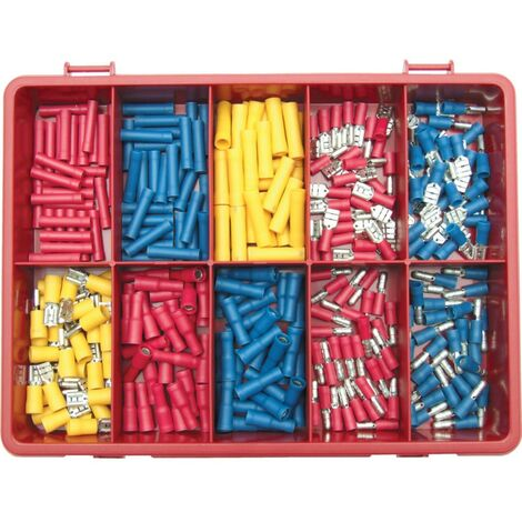 Kennedy Terminals/spades/bulletsr Red/blue/ylw Kit 300-PCE