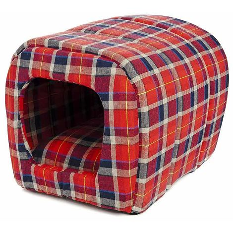 Kennel tunnel house for dogs and cats in soft padded Scottish fabric
