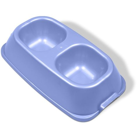 Kennelpak Limited Van Ness Heavyweight Double Feeding Dish (Assorted Colours) - ASRTD (One Size) (Assorted)