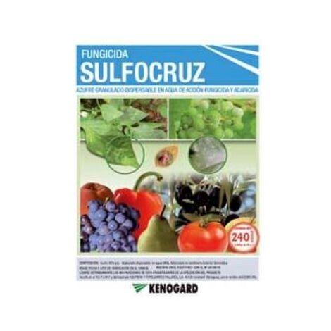 KENOGARD Fungicida Acaricida Azufre 80% SULFOCRUZ , Granulado Dispersable en Agua, Envase 240 gr (6x40 gr)