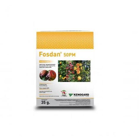 KENOGARD Insecticida Organofosforado FOSDAN 50 PM, Polvo Mojable, Estuche 175 gr (5 x 35 gr)