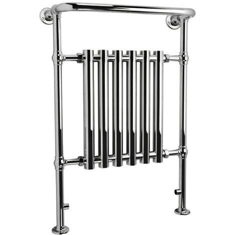 Kensington Traditional All Chrome Heated Towel Rail Radiator