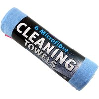 Kent Car Care - 6 Pack Microfibre Cleaning Cloths Towels - Valeting - Q6600