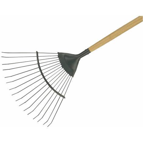 Kent & Stowe 70100262 Carbon Steel Long Handled Lawn & Leaf Rake, FSC®