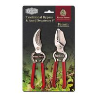 Kent & Stowe Traditional Bypass & Anvil Secateurs (70101500)