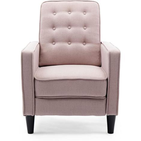 KENTON LINEN RECLINER CHAIR - different colors available