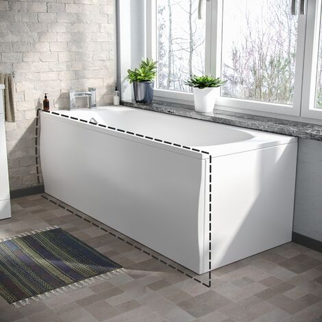 Kentucky 3-Piece Bath Suite Toilet (Eco-Toilet), Pedestal Basin, 1700 Bath, V Tap Set and Front Panel (Free Bath & Basin Waste)