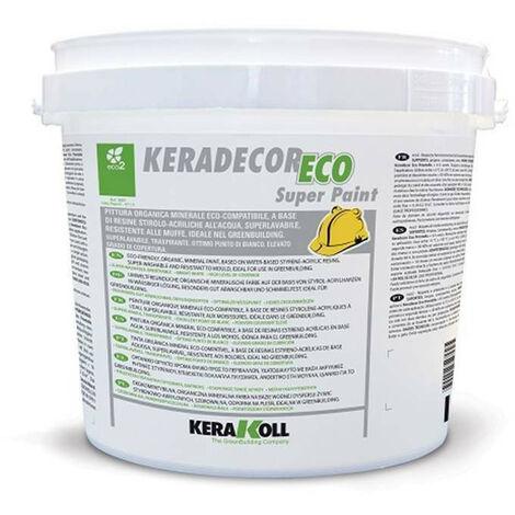 KERADECOR ECO SUPER PAINT 4LT- PITTURA SUPERLAVABILE TRASPIRANTE KERAKOLL PER INTERNI BIANCA - RESISTENTE ALLE MUFFE