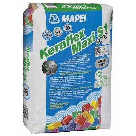 Keraflex Maxi S1 Zero Mapei adesivo cementizio grigio per incollaggio di piastrelle 25kg