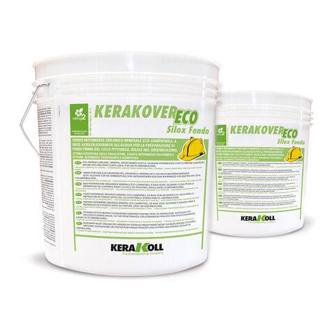 Kerakoll fondo intermedio organico minerale eco compatibile KERAKOVER ECO SILOX FONDO 14 lt - bianco