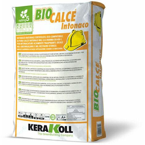 Kerakoll intonaco naturale certificato eco compatibile BIOCALCE INTONACO 25 kg - Bianco