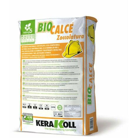 Kerakoll intonaco naturale certificato eco compatibile BIOCALCE ZOCCOLATURA 25 kg