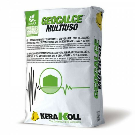 Kerakoll intonaco-rasante traspirante universale GEOCALCE MULTIUSO 25 kg
