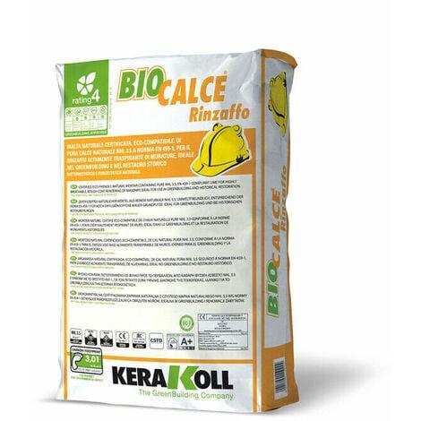 Kerakoll malta naturale certificata eco compatibile BIOCALCE RINZAFFO 25 kg