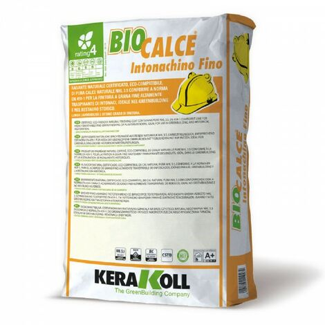 Kerakoll rasante naturale certificato eco compatibile BIOCALCE INTONACHINO FINO 25 kg