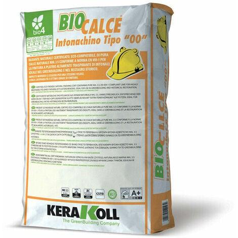 """Kerakoll rasante naturale certificato eco compatibile BIOCALCE INTONACHINO TIPO """"00"""" 20 kg"""