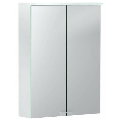 Keramag Armoire de toilette Geberit Option Basic avec éclairage, deux portes, largeur 50cm, 500257001 - 500.257.00.1