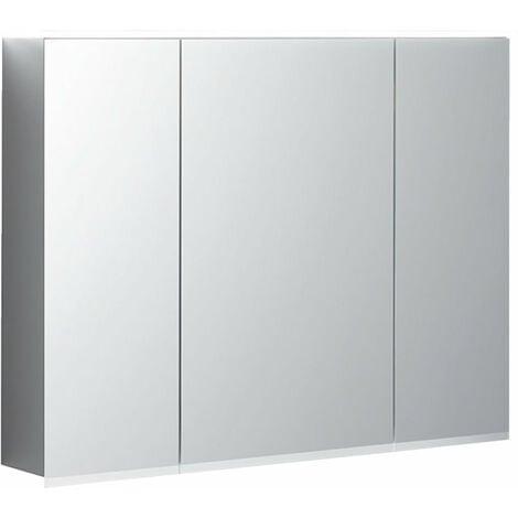 Keramag Armoire de toilette Geberit Option Plus Plus avec éclairage, trois portes, largeur 90 cm, 500594001 - 500.594.00.1