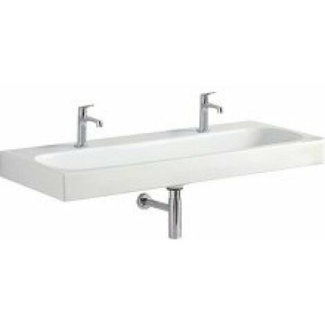 Keramag Citterio washbasin 500553011, two tap holes, without overflow, 1200x500mm, white with KeraTect - 500.553.01.1