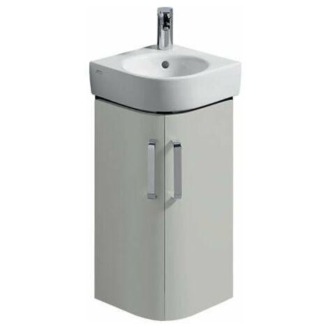 "main image of ""Keramag Corner Lavabo lavamani Vanity unit Renova Nr. 1 Comprimo New 300x605x300mm Grigio chiaro opaco / grigio chiaro lucido lucido - 862133000"""