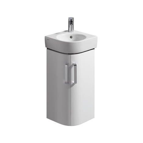 Keramag Eck Lave-mains lavabo Meuble sous-lavabo Renova Nr. 1 Comprimo New 300x605x300mm blanc mat/brillant blanc brillant - 862132000