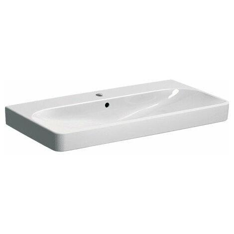 Keramag Geberit Smyle Square Lavabo 500251, 90x48cm, avec trou pour robinet et trop-plein, Coloris: Blanc, avec KeraTect - 500.251.01.8