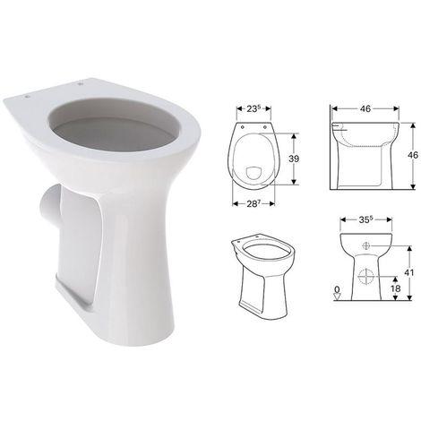 Keramag Geberit Vitalis Standflachspül WC Flachspüler erhöht 6cml weiß 211105000