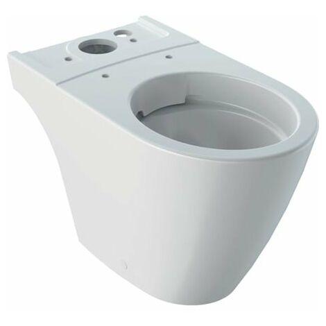 Keramag iCon WC à chasse d'eau, sans bord, 6l, sur pied, sortie Multi 200460, Coloris: Blanc, avec KeraTect - 200460600
