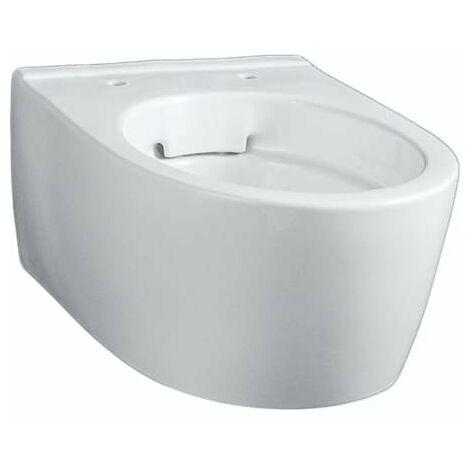 Keramag iCon xs lavable WC, court, 6l, suspendu au mur, sans chasse d'eau, blanc 204070, Coloris: Blanc - 204070000