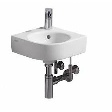Keramag Renova Nr.1 Comprimo Nouveau lavabo d'angle, 32cm, 276132, Coloris: Blanc, avec KeraTect - 276132600