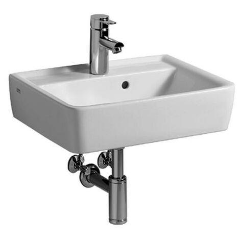 Keramag Renova Nr.1 Plan Handwaschbecken 50x38cm, ohne Hahnloch, mit Überlauf, Farbe: Weiß, mit KeraTect - 272153600