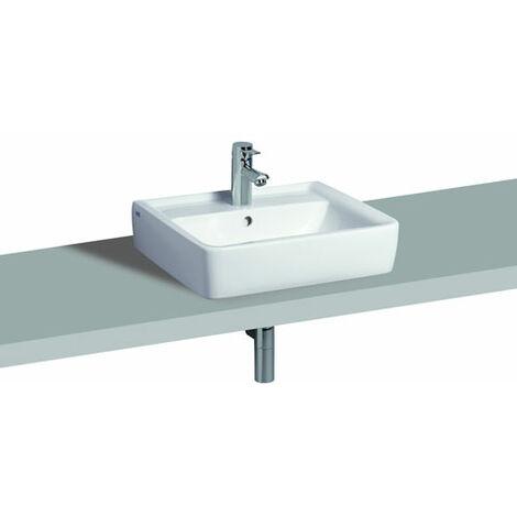 Keramag Renova Nr.1 Plan vasque à poser 60x48cm, Coloris: Blanc, avec KeraTect - 225160600