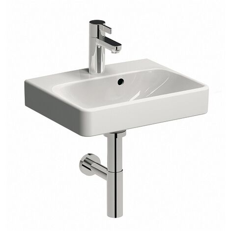 Keramag Smyle washbasin 45x36cm, with tap hole and overflow, colour: White, with KeraTect - 500.222.01.8