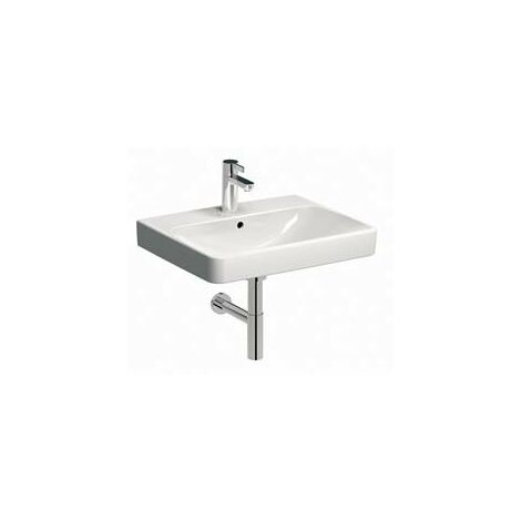 Keramag Smyle washbasin 60x48cm, with tap hole and overflow, colour: White, with KeraTect - 500.229.01.8