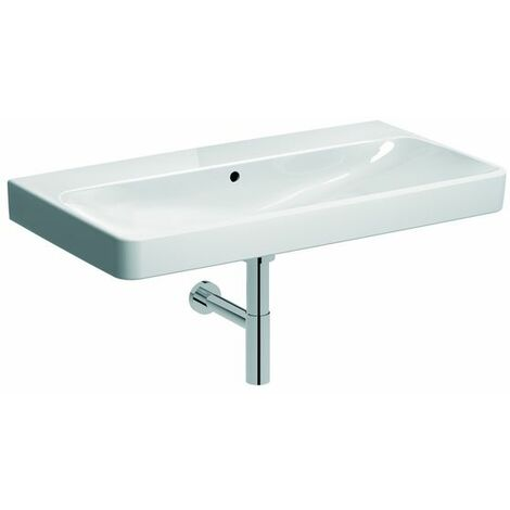 Keramag Smyle washbasin 90x48cm, without tap hole, with overflow, colour: White, with KeraTect - 500.250.01.8