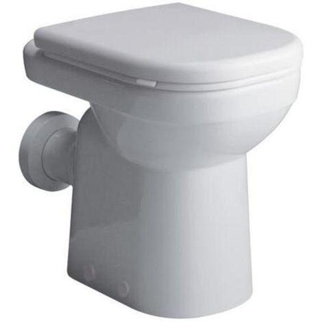 Keramag Tiefspül WC Dejuna, bodenstehend, Standmodell, 6L Abgang Waagerecht, weiß, 218500000, ohne Deckel