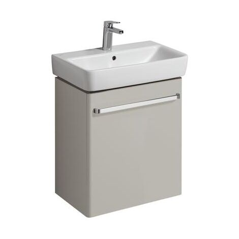 Keramag Vanity unit Renova Nr. 1 Comprimo New 549x604x337mm light grey matt/light grey high gloss - 862061000