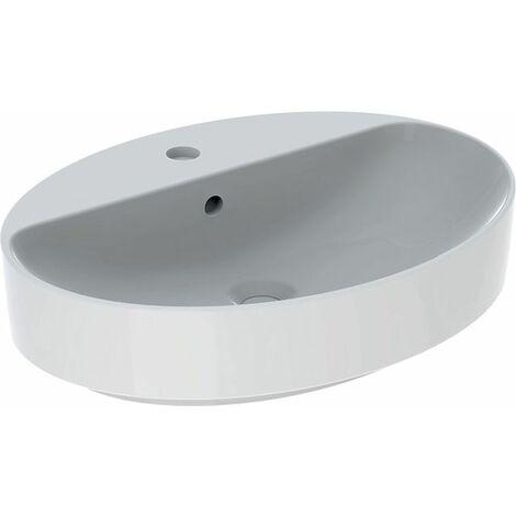Keramag VariForm Vasque à poser ovale, 600x450mm, avec trou pour robinet, avec trop-plein, Coloris: Blanc, avec KeraTect - 500.772.00.2