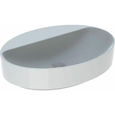 Keramag VariForm Vasque à poser ovale, 600x450mm, avec trou pour robinet, sans trop-plein, Coloris: Blanc, avec KeraTect - 500.773.00.2