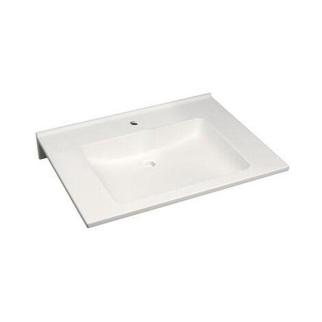 Keramag Waschtisch Agilo 700x550mm ohne Überlauf ohne Ausschnitte Varicor weiß(alpin)