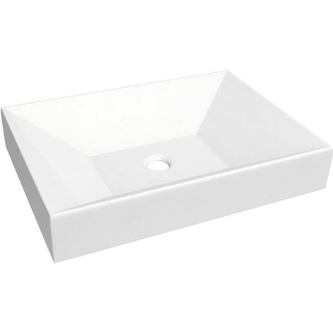 Keramik Aufsatzbecken Waschbecken Basso Rechteckig 55 X 40 Cm