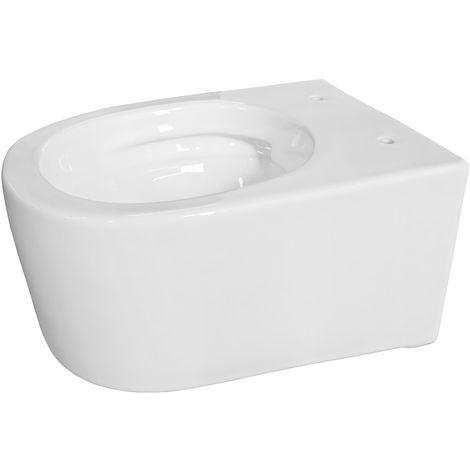 Keramik Tiefspüler Spülrandlos Wand Hänge Toilette WC Weiß Sanlingo