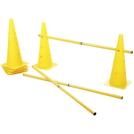 Kerbl 2-in-1 Agility Hurdle Cone Set Yellow 81994