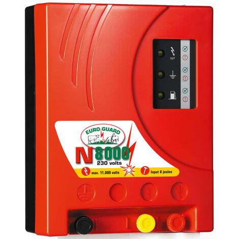 """Kerbl Alimentador Valla Eléctrica """"Euro Guard N 8000"""" Rojo 392080"""